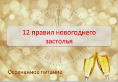 12 правил новогоднего застолья